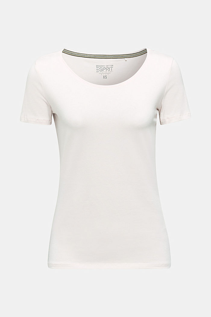 Basic top with stretch for comfort, LIGHT PINK, detail image number 6