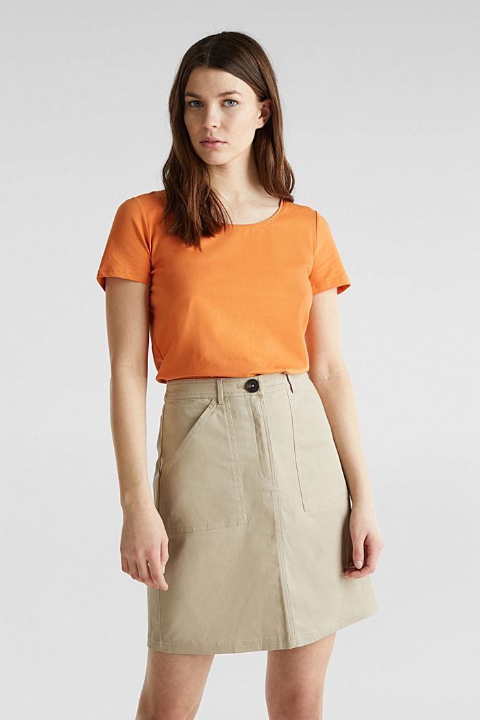 Basic shirt met stretch, RUST ORANGE, detail image number 0