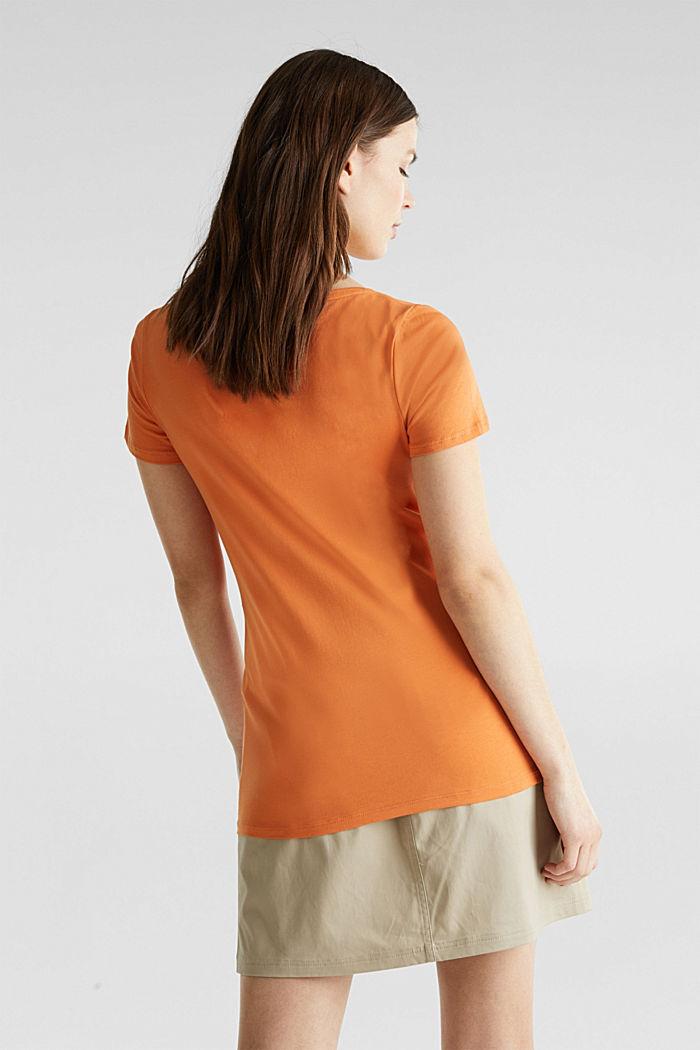 Basic shirt met stretch, RUST ORANGE, detail image number 3