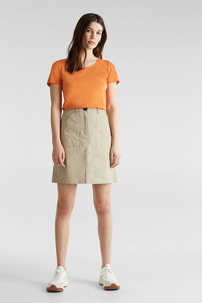 Basic-Shirt mit Stretchkomfort, RUST ORANGE, detail image number 1