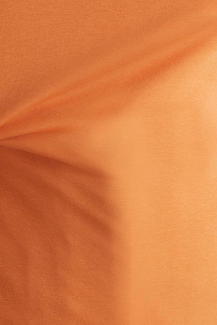 Basic shirt met stretch, RUST ORANGE, detail image number 4