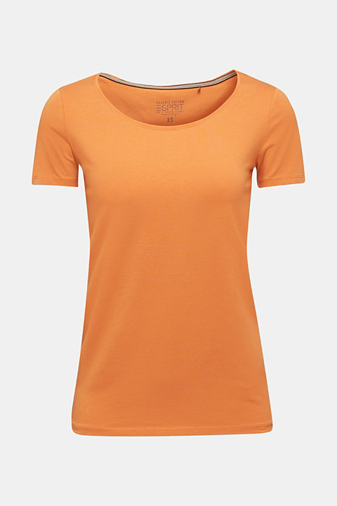 Stretch top with a large neckline