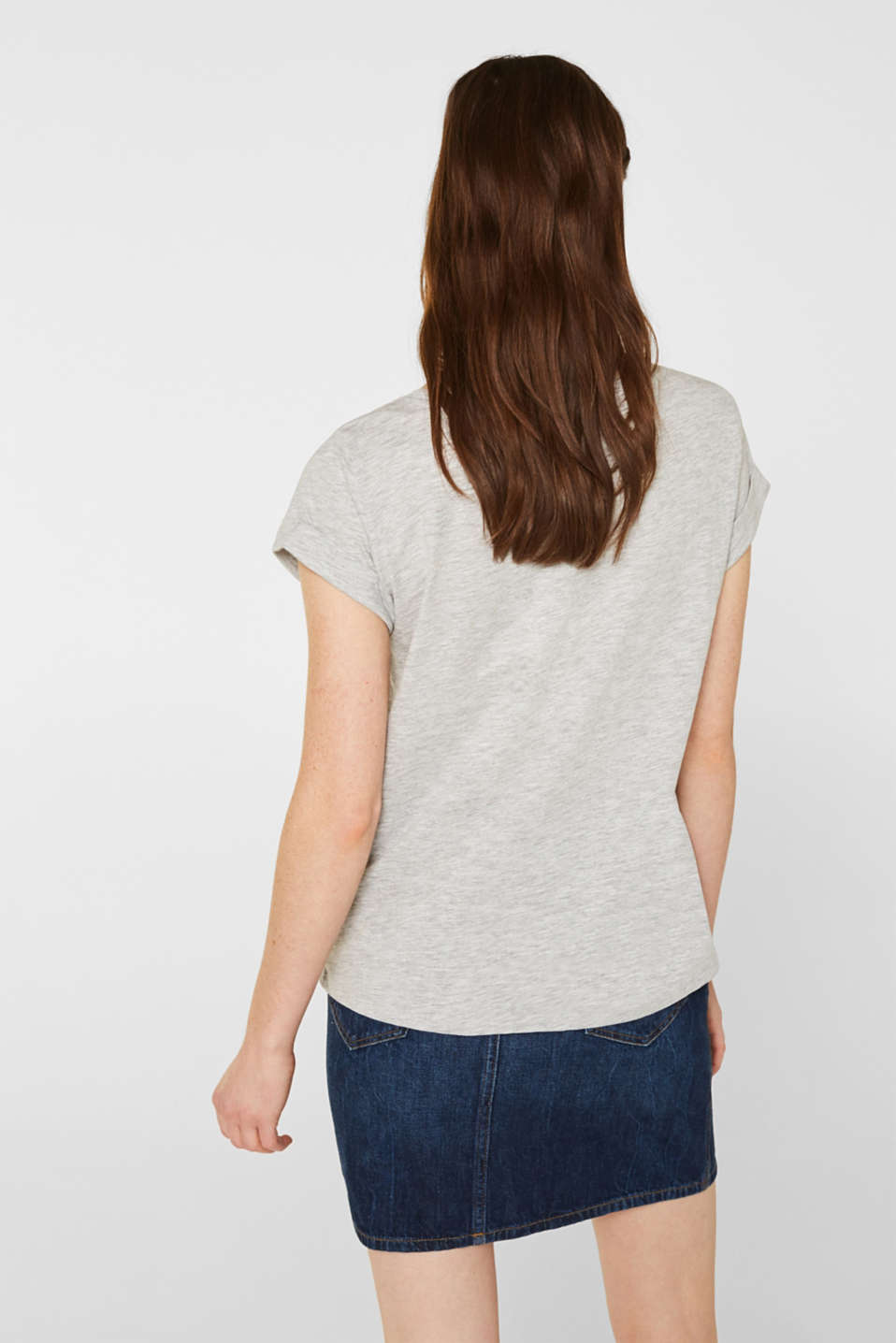 T-shirt with print and embroidery, LIGHT GREY 5, detail image number 3