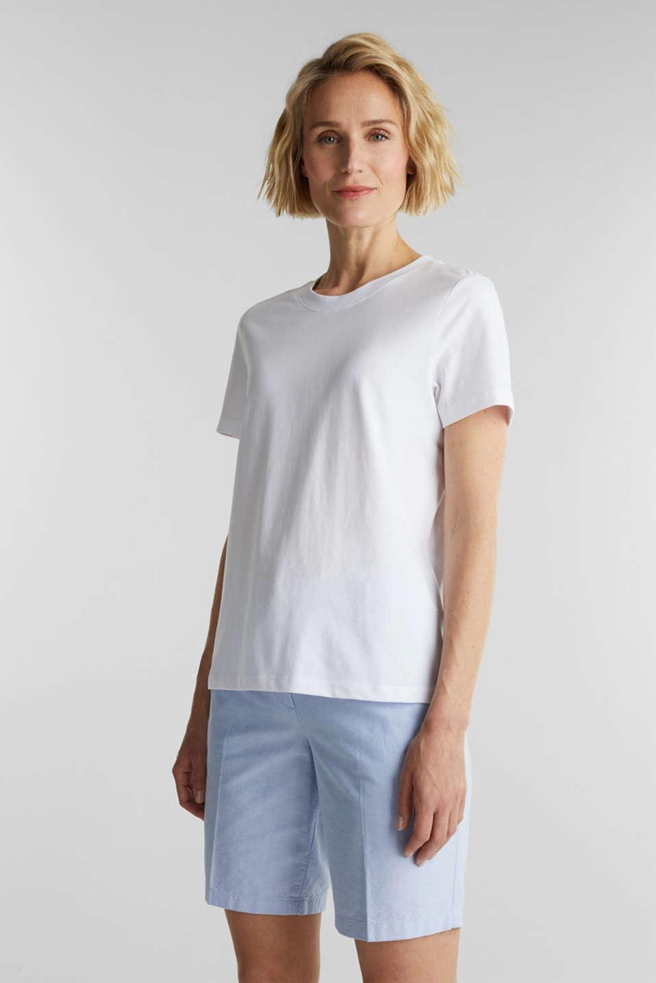 Basic T-shirt, 100% organic cotton, WHITE, detail image number 0