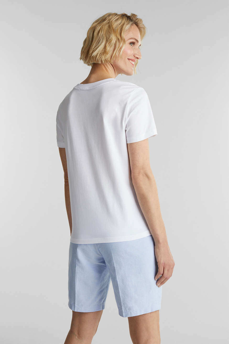 Basic T-shirt, 100% organic cotton, WHITE, detail image number 3