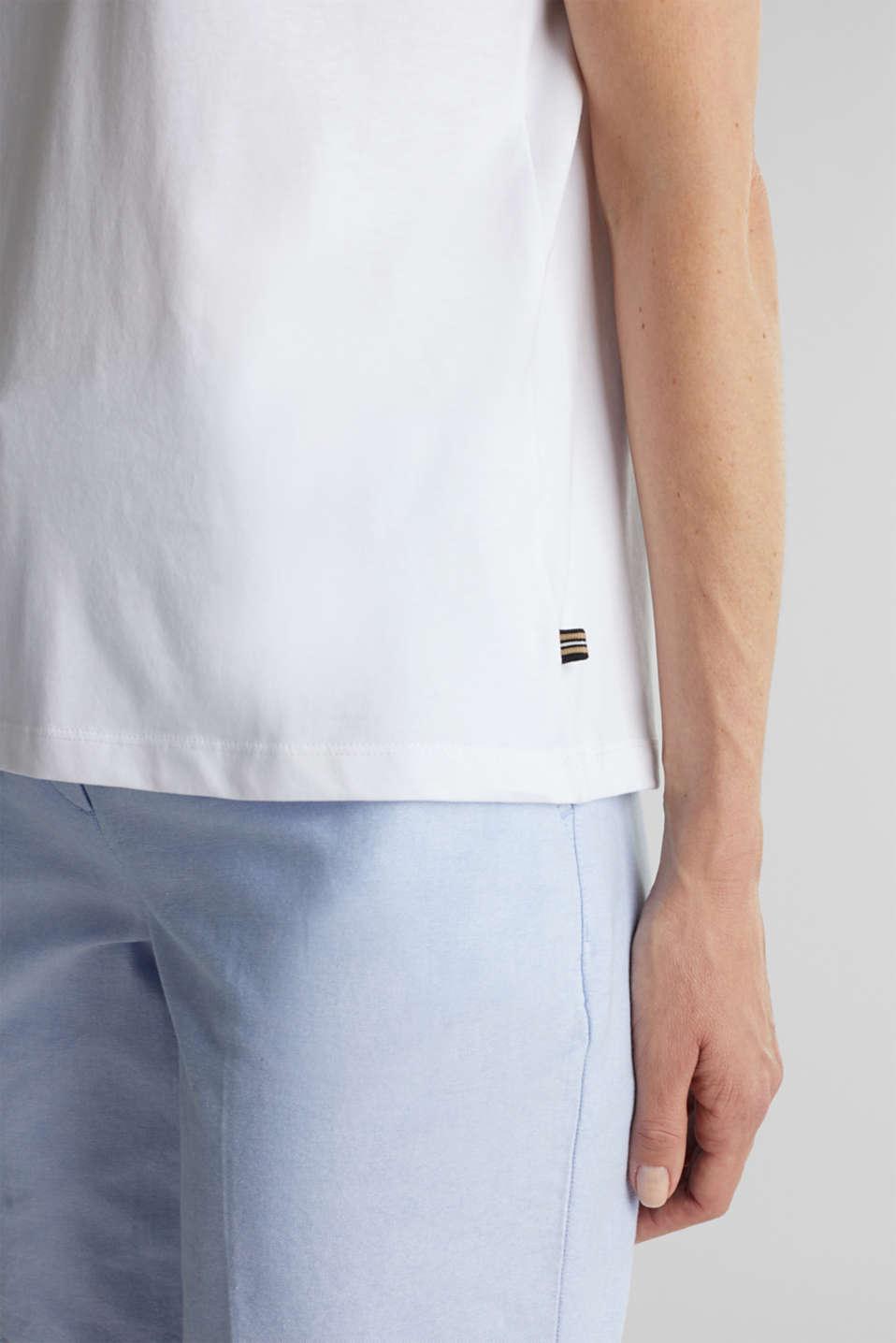 Basic T-shirt, 100% organic cotton, WHITE, detail image number 2