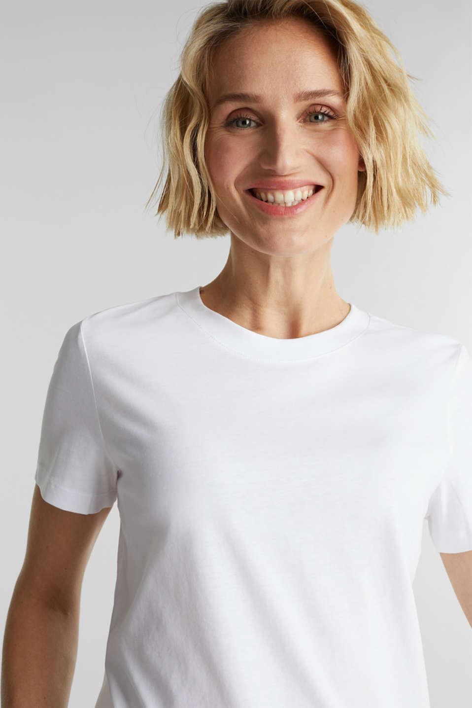 Basic T-shirt, 100% organic cotton, WHITE, detail image number 4