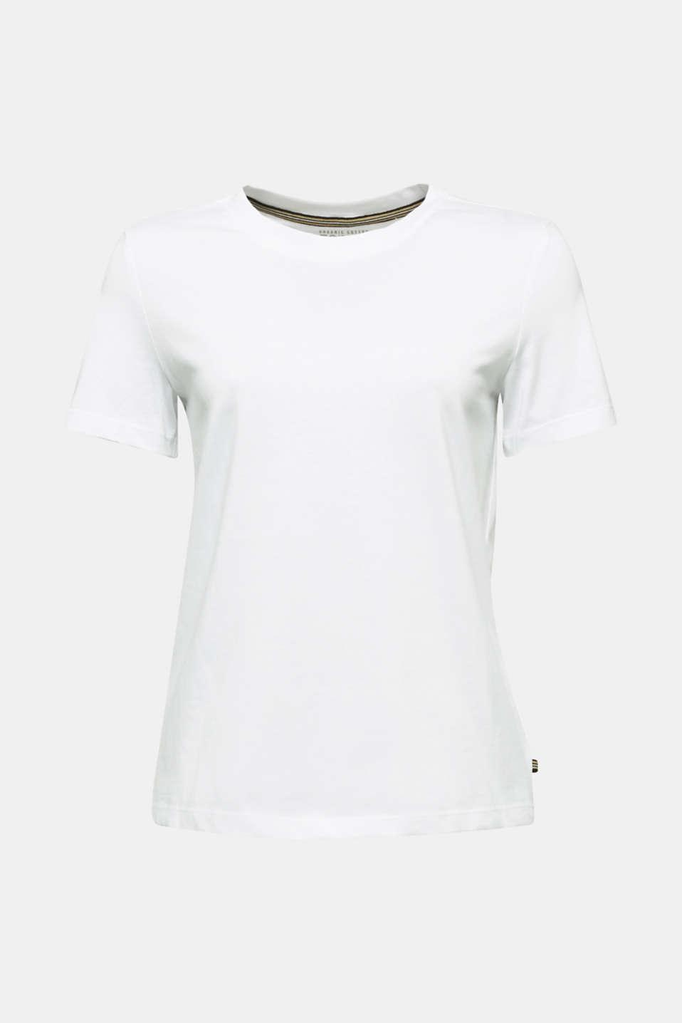 Basic T-shirt, 100% organic cotton, WHITE, detail image number 5