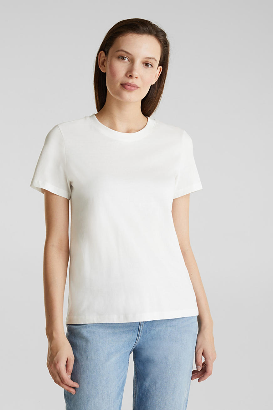 T-shirt in basic look, 100% organic cotton