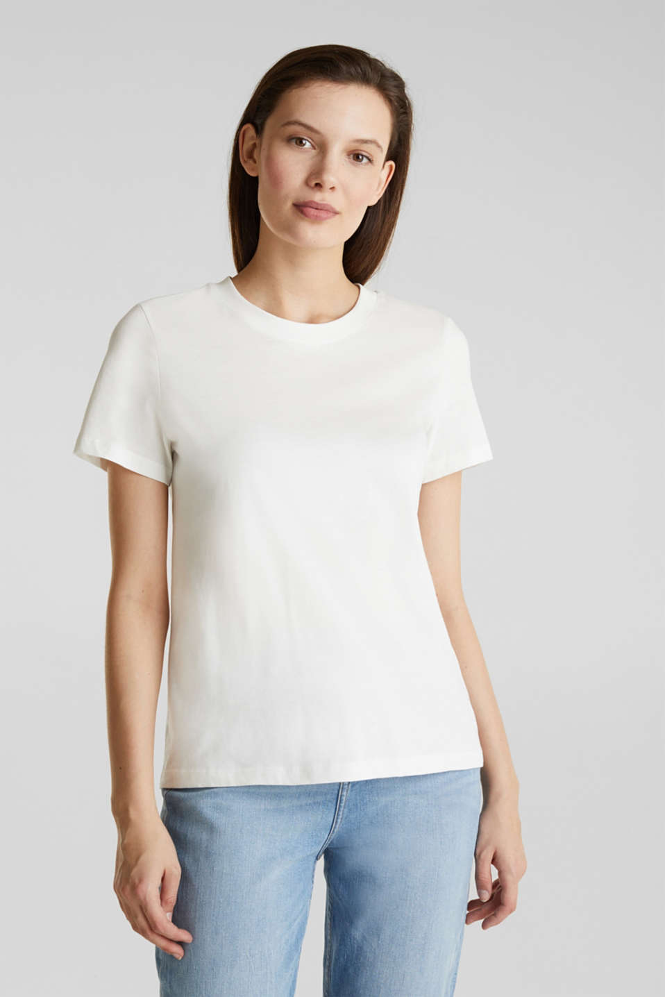 Esprit - T-Shirt im Basic-Look, 100% Organic Cotton