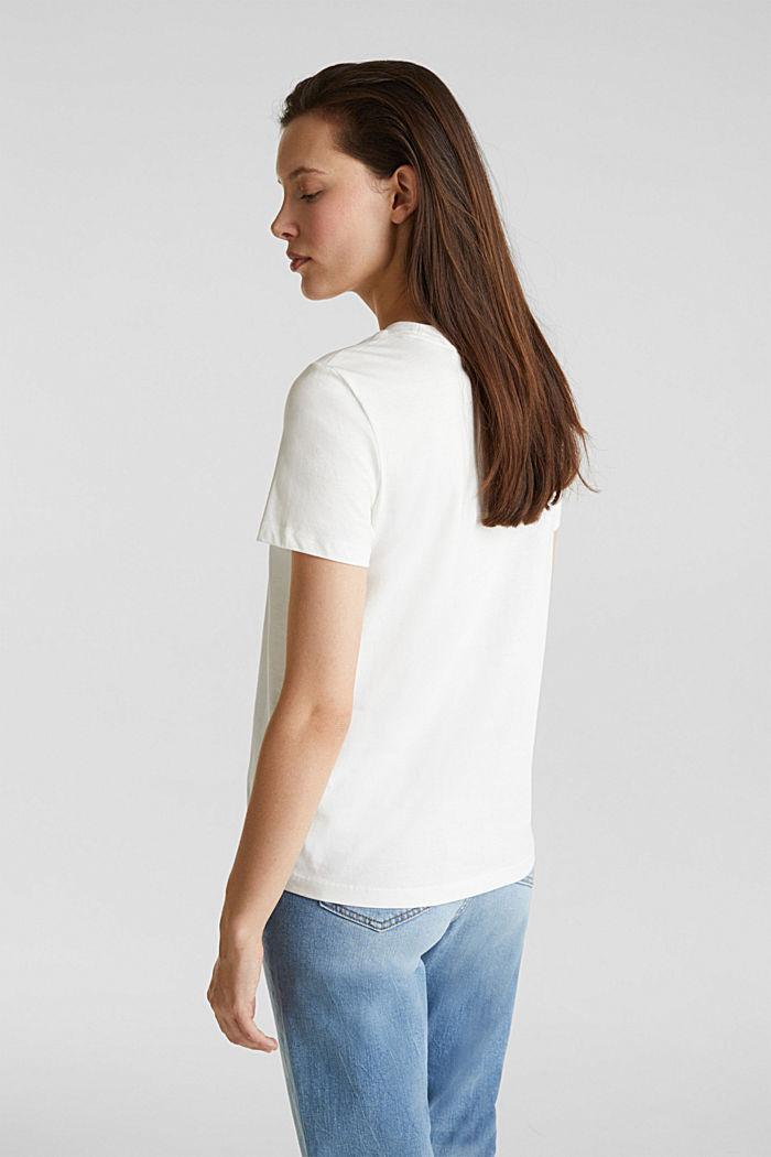 T-Shirt im Basic-Look, 100% Organic Cotton, OFF WHITE, detail image number 3