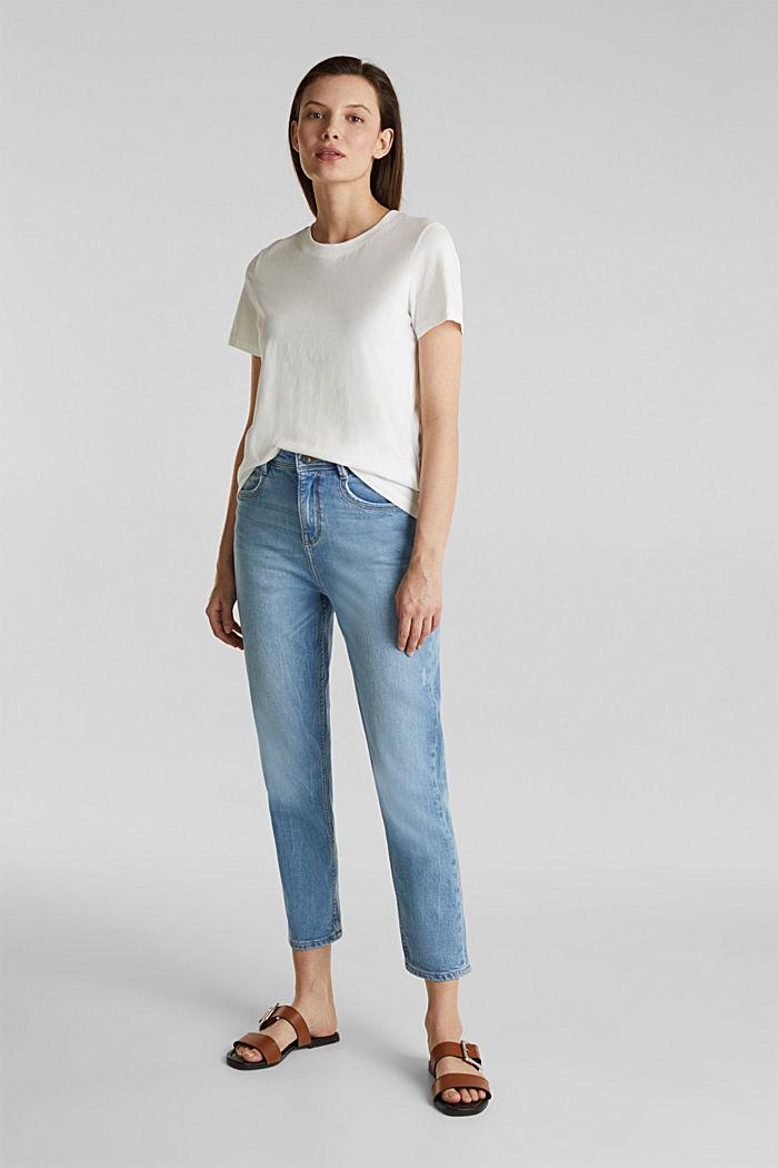 T-Shirt im Basic-Look, 100% Organic Cotton, OFF WHITE, detail image number 1