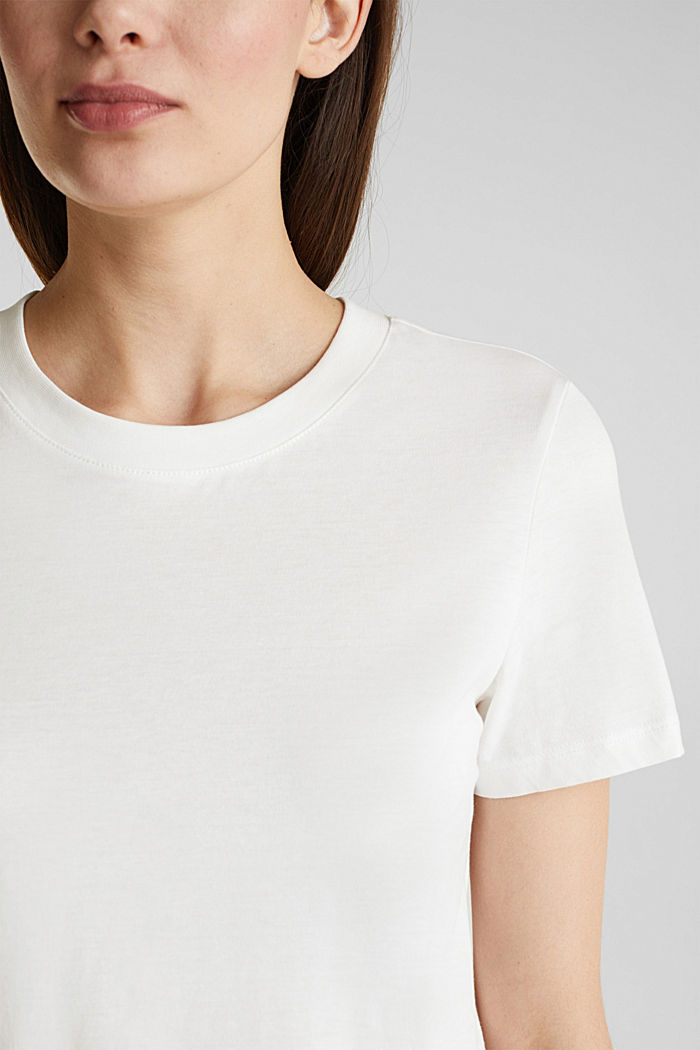 Basic T-shirt, 100% organic cotton, OFF WHITE, detail image number 2