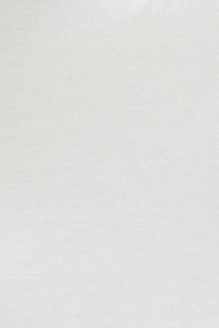 T-Shirt im Basic-Look, 100% Organic Cotton, OFF WHITE, detail image number 4