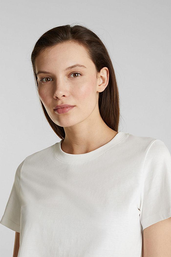 T-Shirt im Basic-Look, 100% Organic Cotton, OFF WHITE, detail image number 6