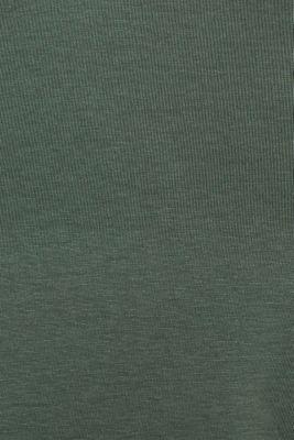 Basic T-shirt, 100% organic cotton, KHAKI GREEN 4, detail