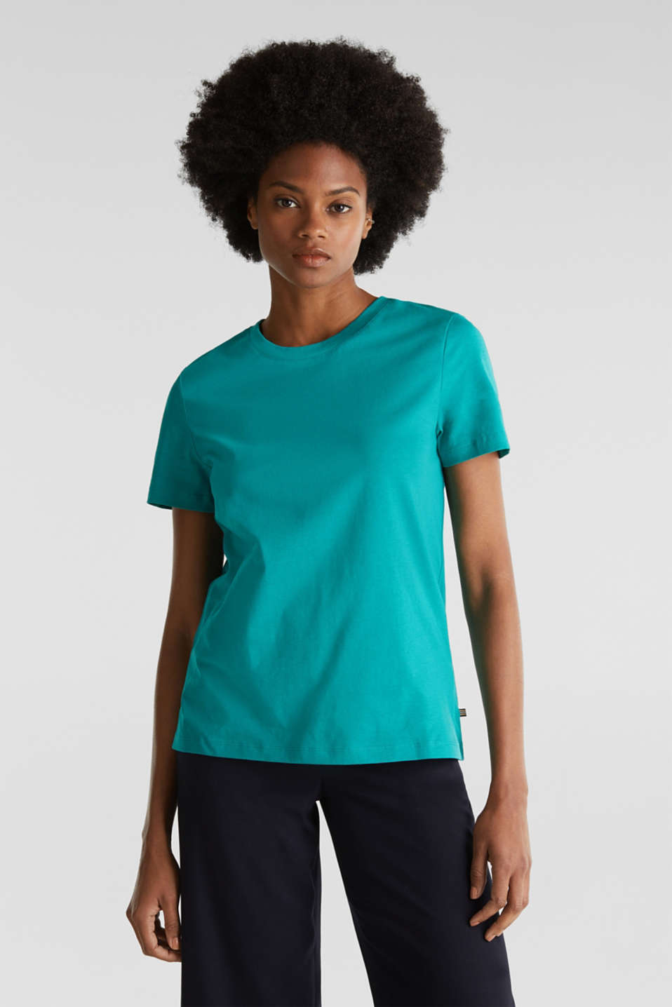 Esprit - T-shirt in basic look, 100% organic cotton