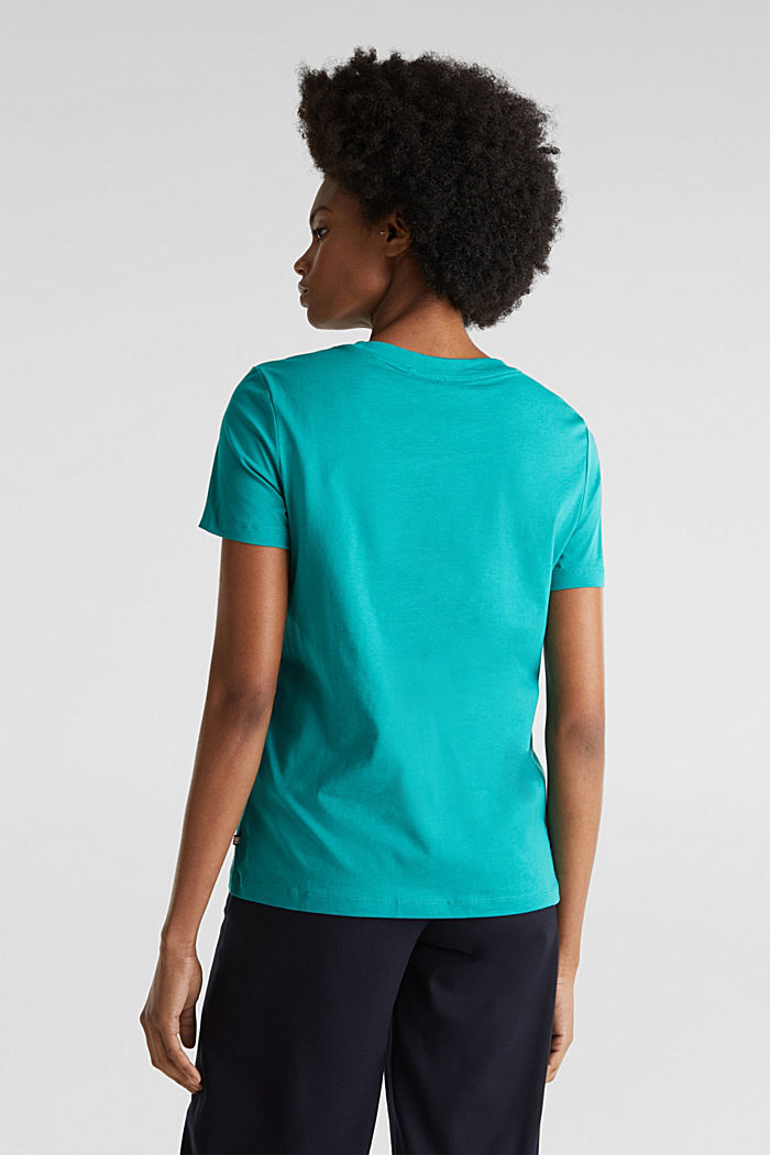 Basic T-shirt, 100% organic cotton, TEAL GREEN, detail image number 3