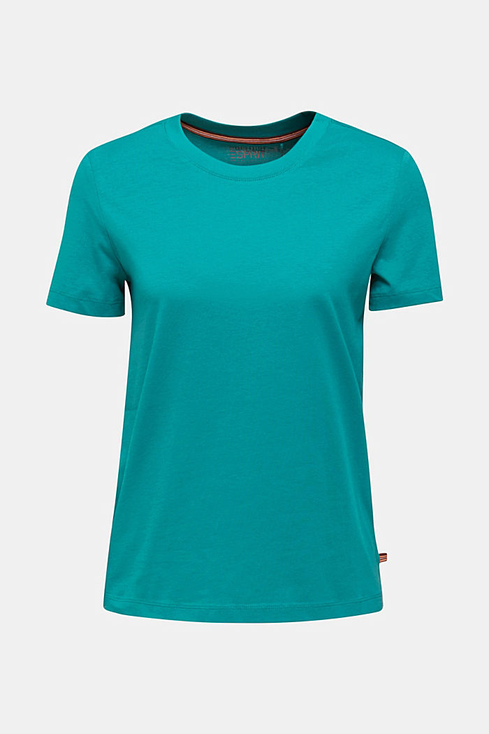 Basic T-shirt, 100% organic cotton, TEAL GREEN, detail image number 6
