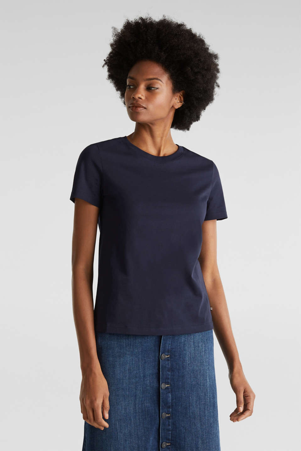 Esprit - Basic T-shirt, 100% organic cotton