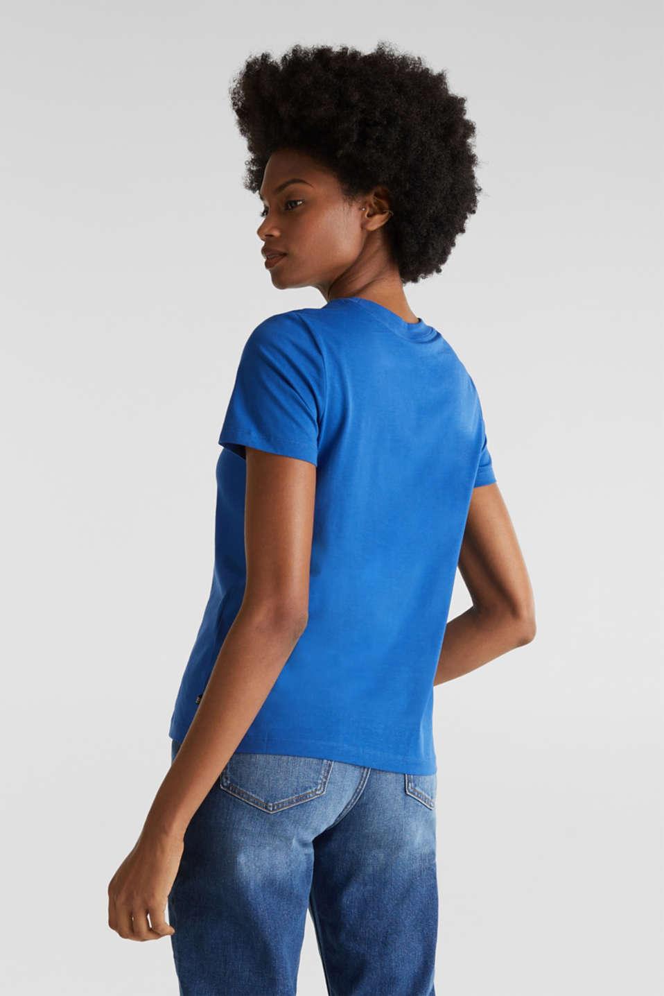Basic T-shirt, 100% organic cotton, BRIGHT BLUE 4, detail image number 3