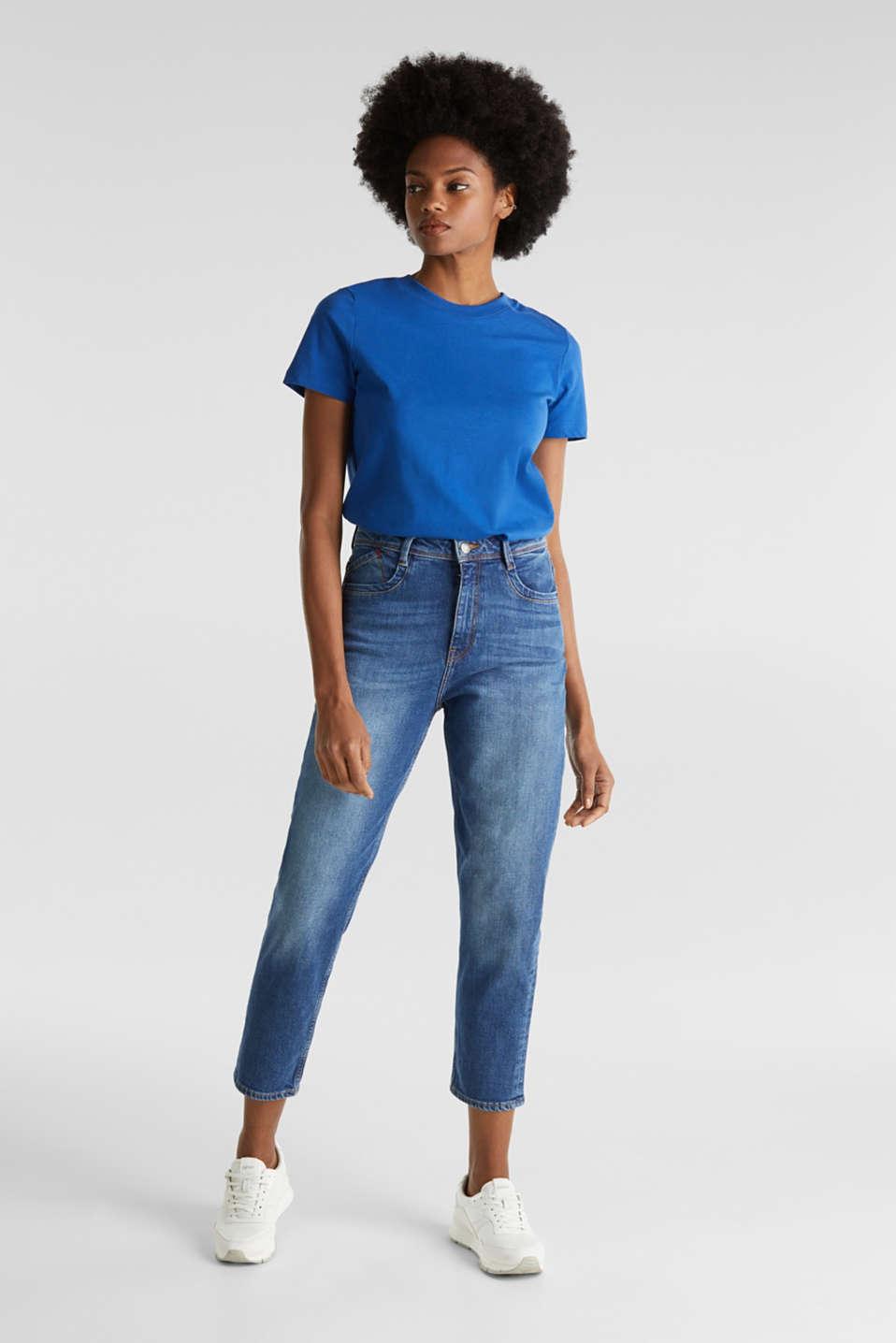 Basic T-shirt, 100% organic cotton, BRIGHT BLUE 4, detail image number 1