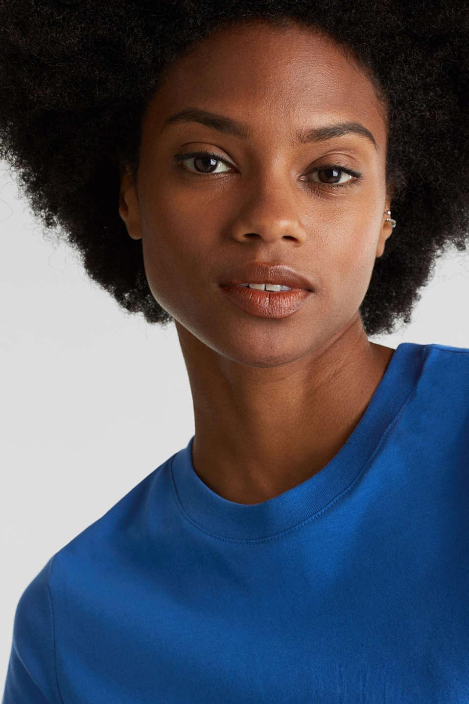 Basic T-shirt, 100% organic cotton, BRIGHT BLUE 4, detail image number 2