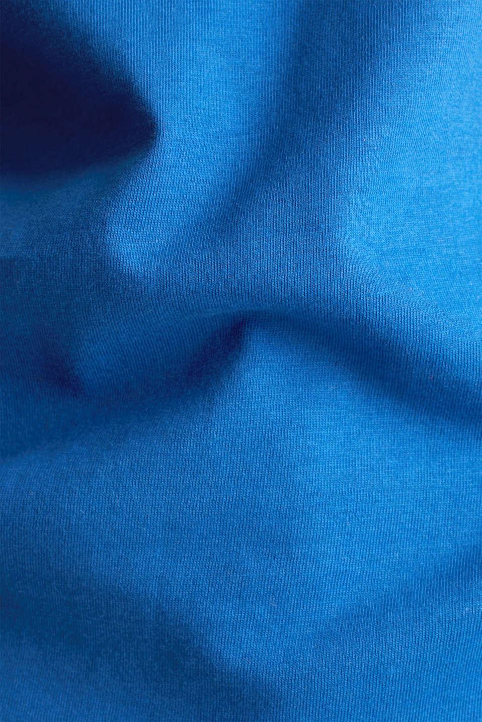 Basic T-shirt, 100% organic cotton, BRIGHT BLUE 4, detail image number 4