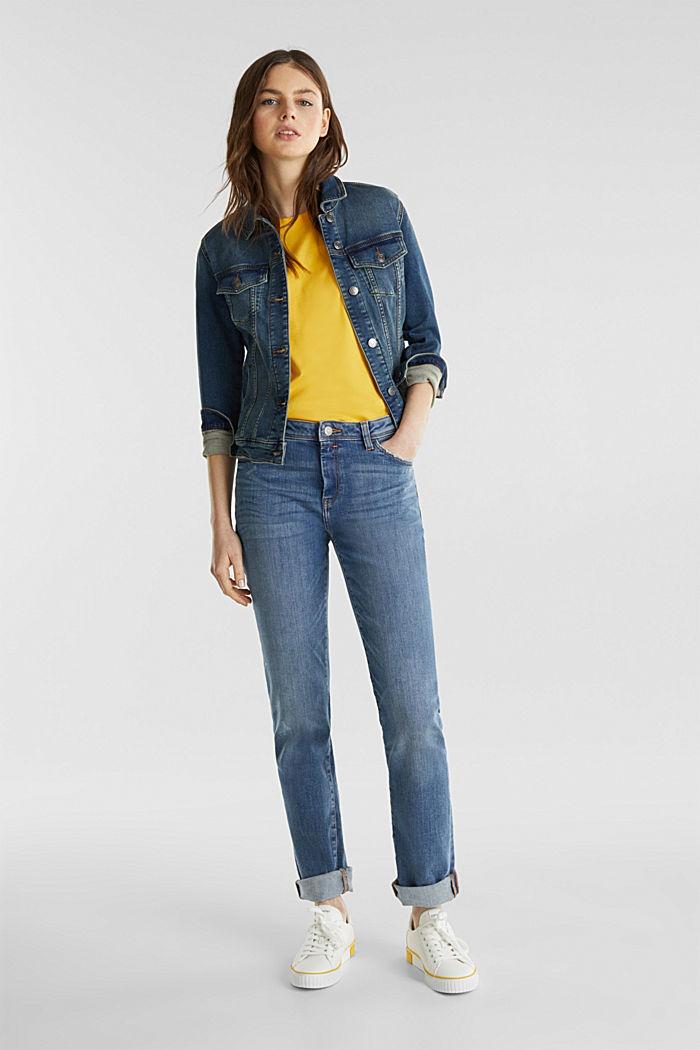 T-Shirt im Basic-Look, 100% Organic Cotton, YELLOW, detail image number 1