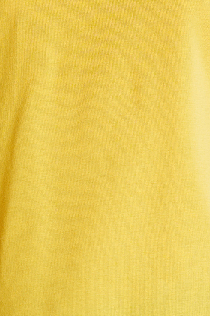 T-shirt dal look basic, 100% cotone biologico, YELLOW, detail image number 4