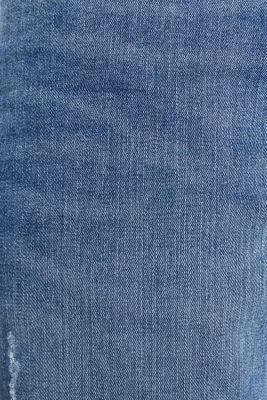 Super stretchy jeans with washed-out effect, BLUE LIGHT WASH, detail