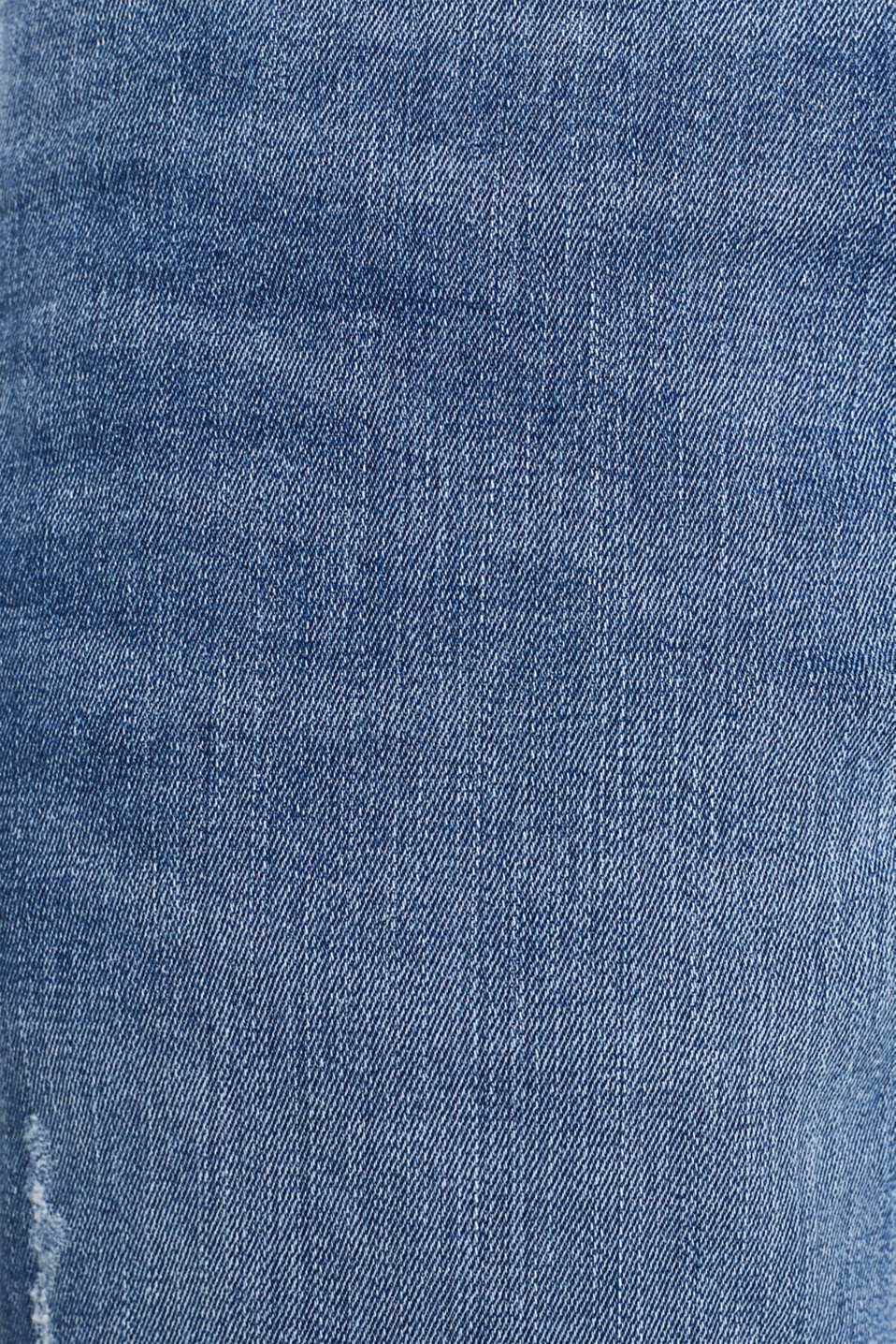 Super stretchy jeans with washed-out effect, BLUE LIGHT WASH, detail image number 4