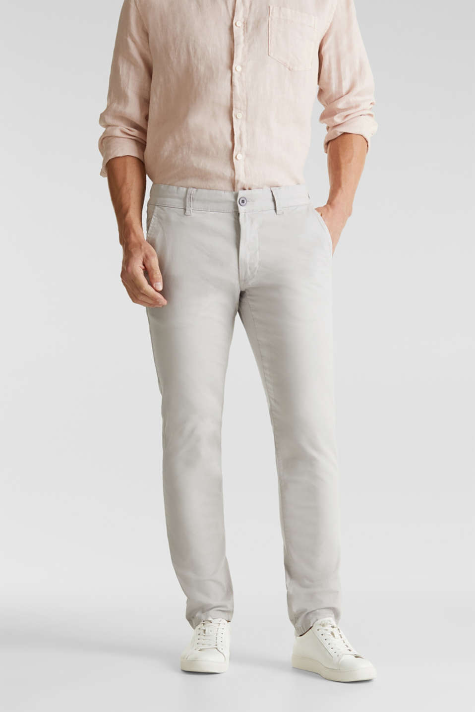 Esprit - Stretch chinos made of twill
