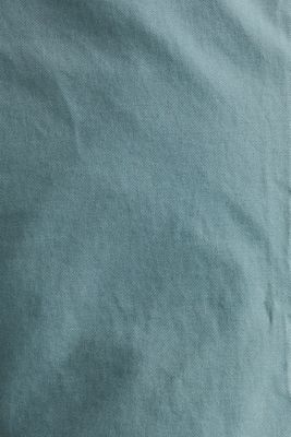 Stretch chinos made of twill, TEAL GREEN, detail
