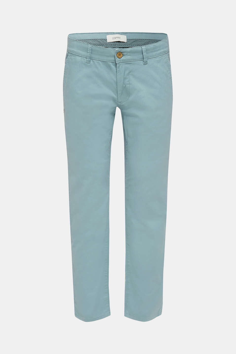 Stretch chinos made of twill, TEAL GREEN, detail image number 5