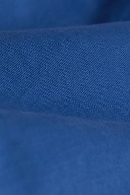 Stretch chinos made of twill, BRIGHT BLUE, detail