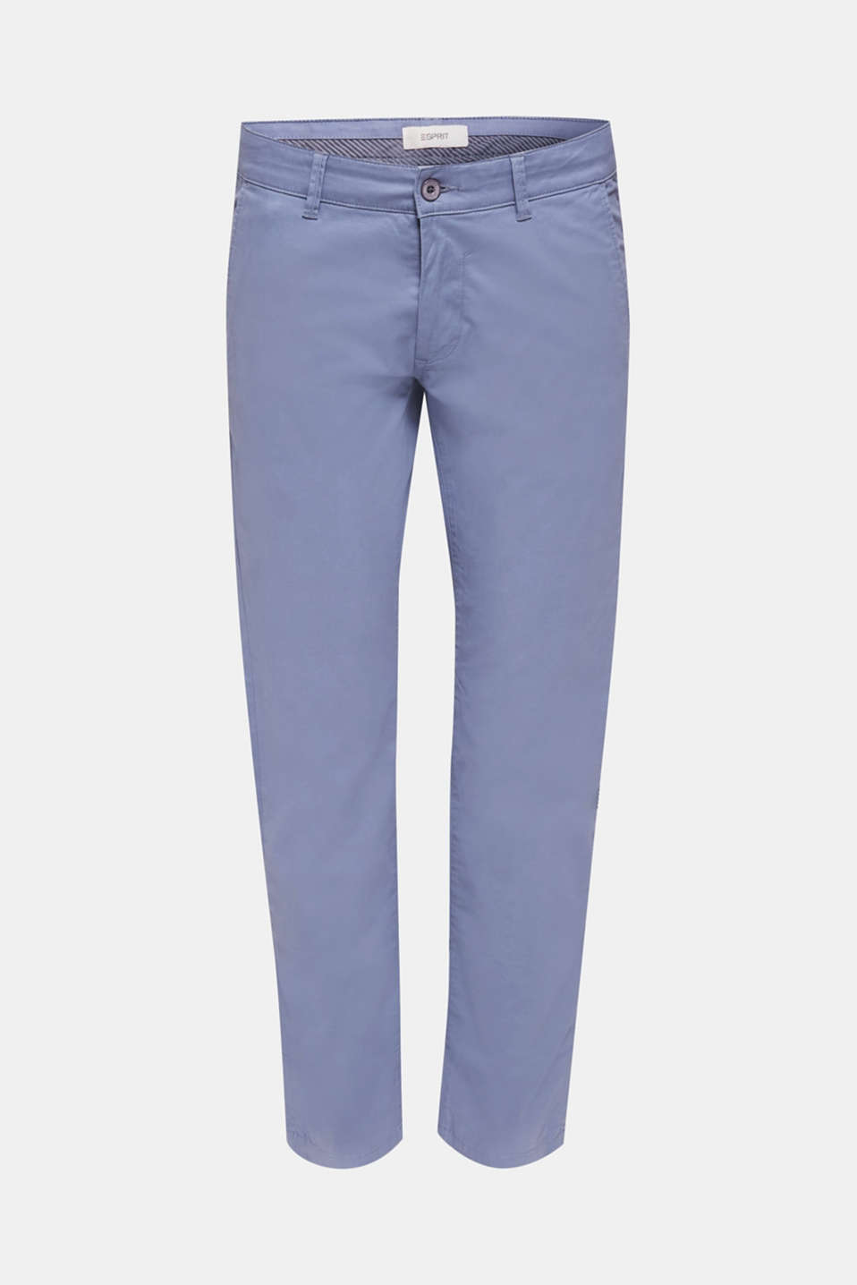 Stretch chinos made of twill, BLUE LAVENDER, detail image number 5