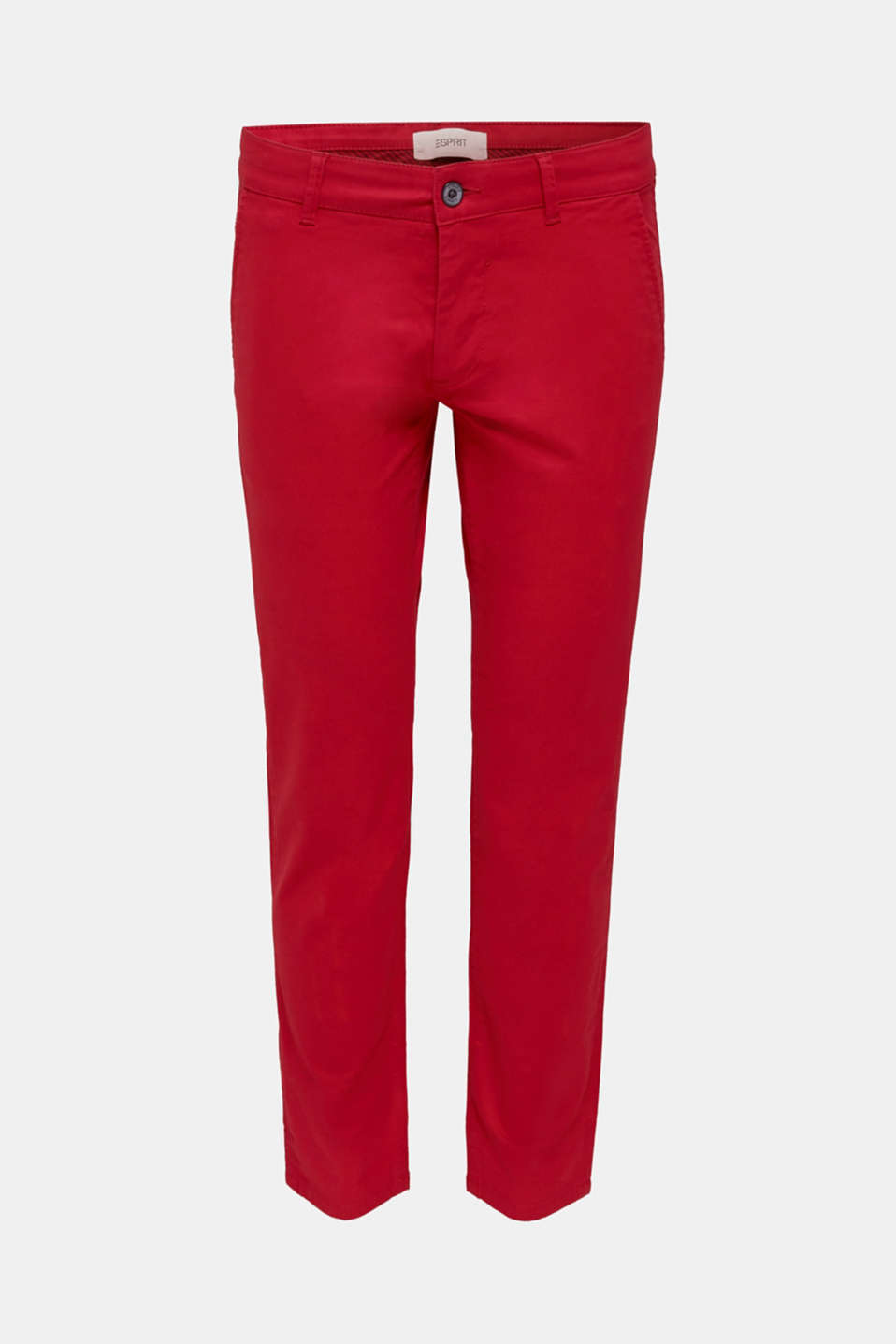 Stretch chinos made of twill, RED, detail image number 6