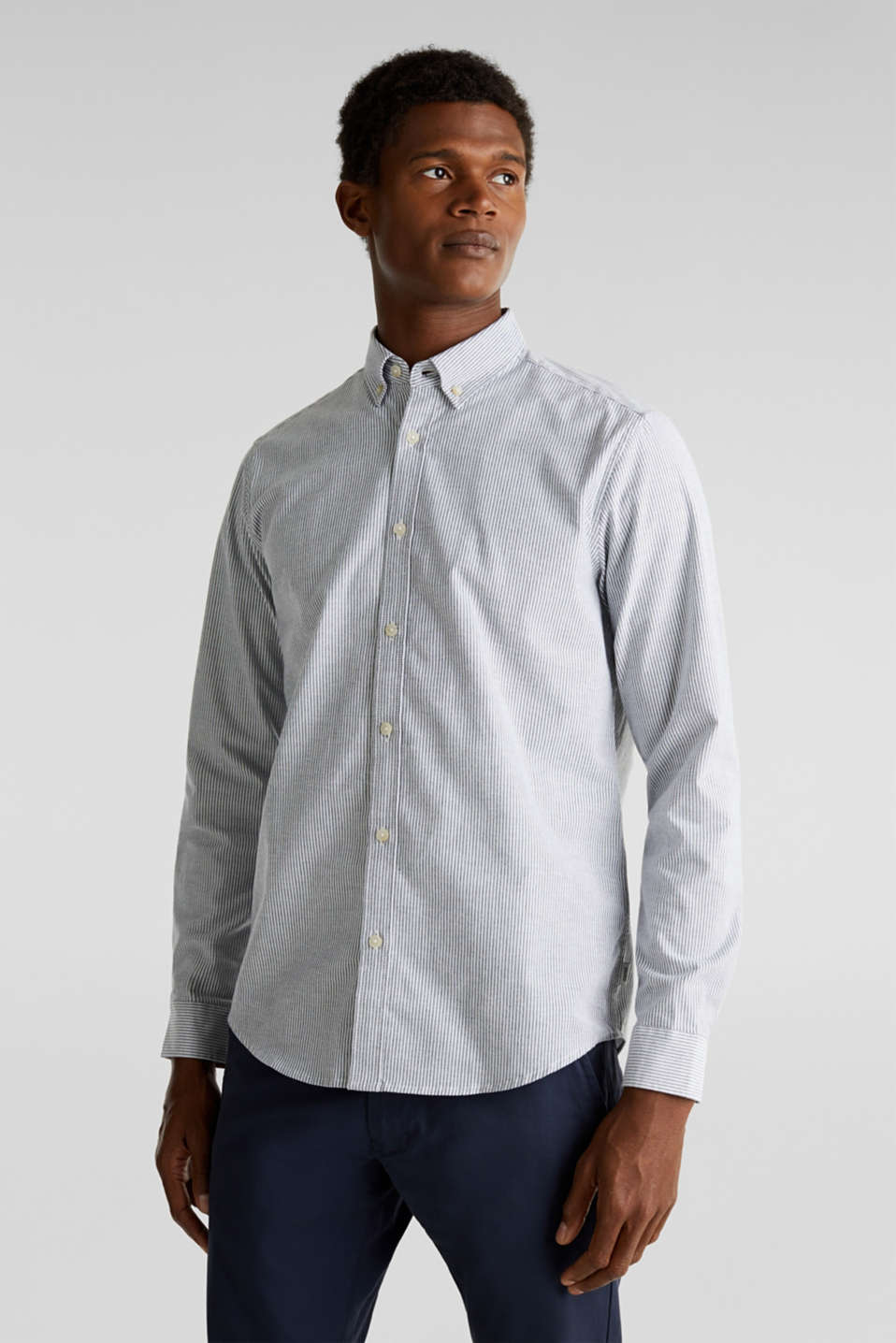 Esprit - Camicia Oxford di cotone stretch