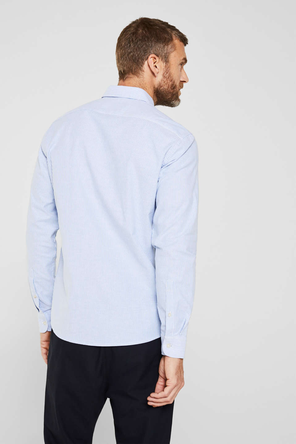 Oxford shirt in stretch cotton, LIGHT BLUE 3, detail image number 3