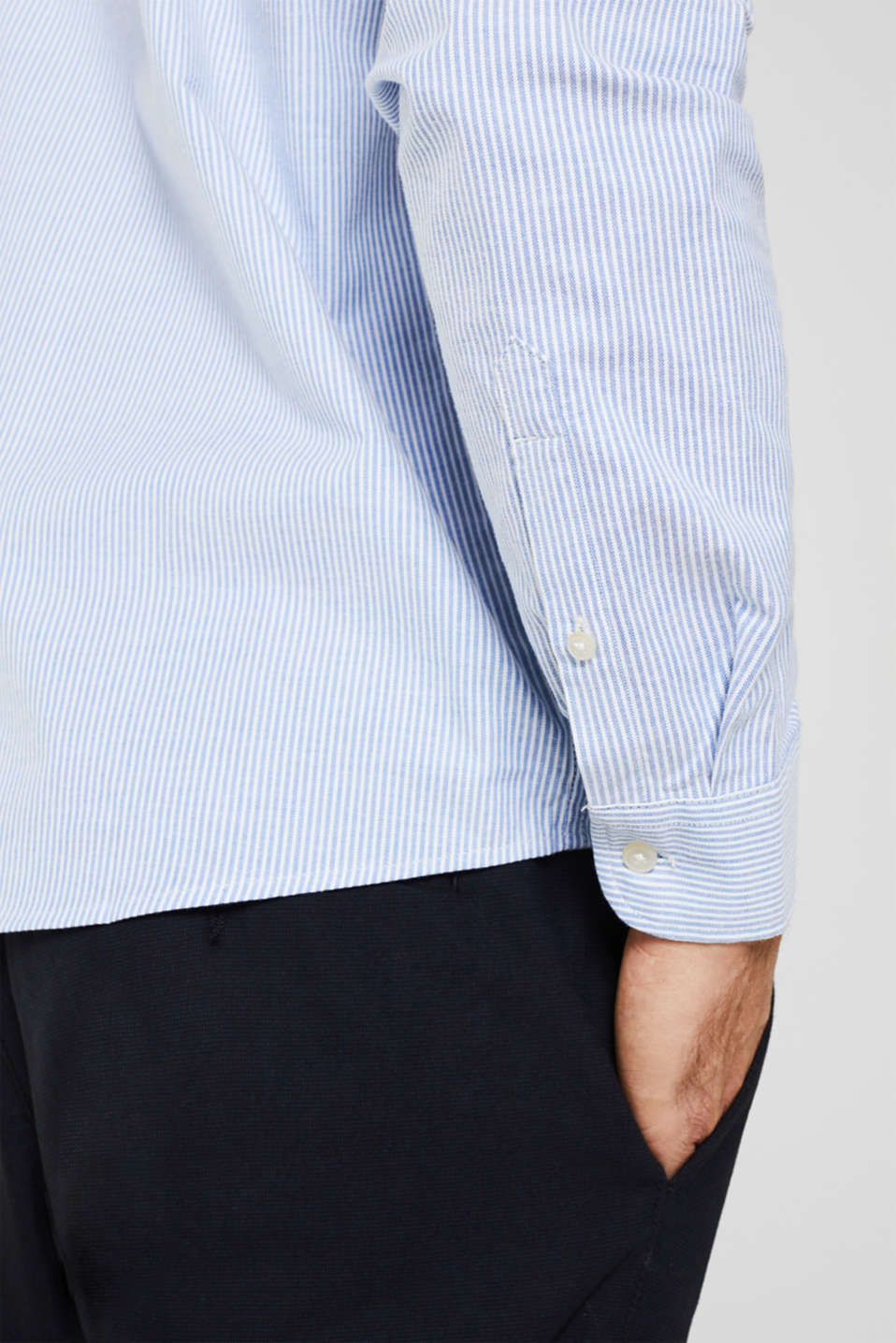 Oxford shirt in stretch cotton, LIGHT BLUE 3, detail image number 5