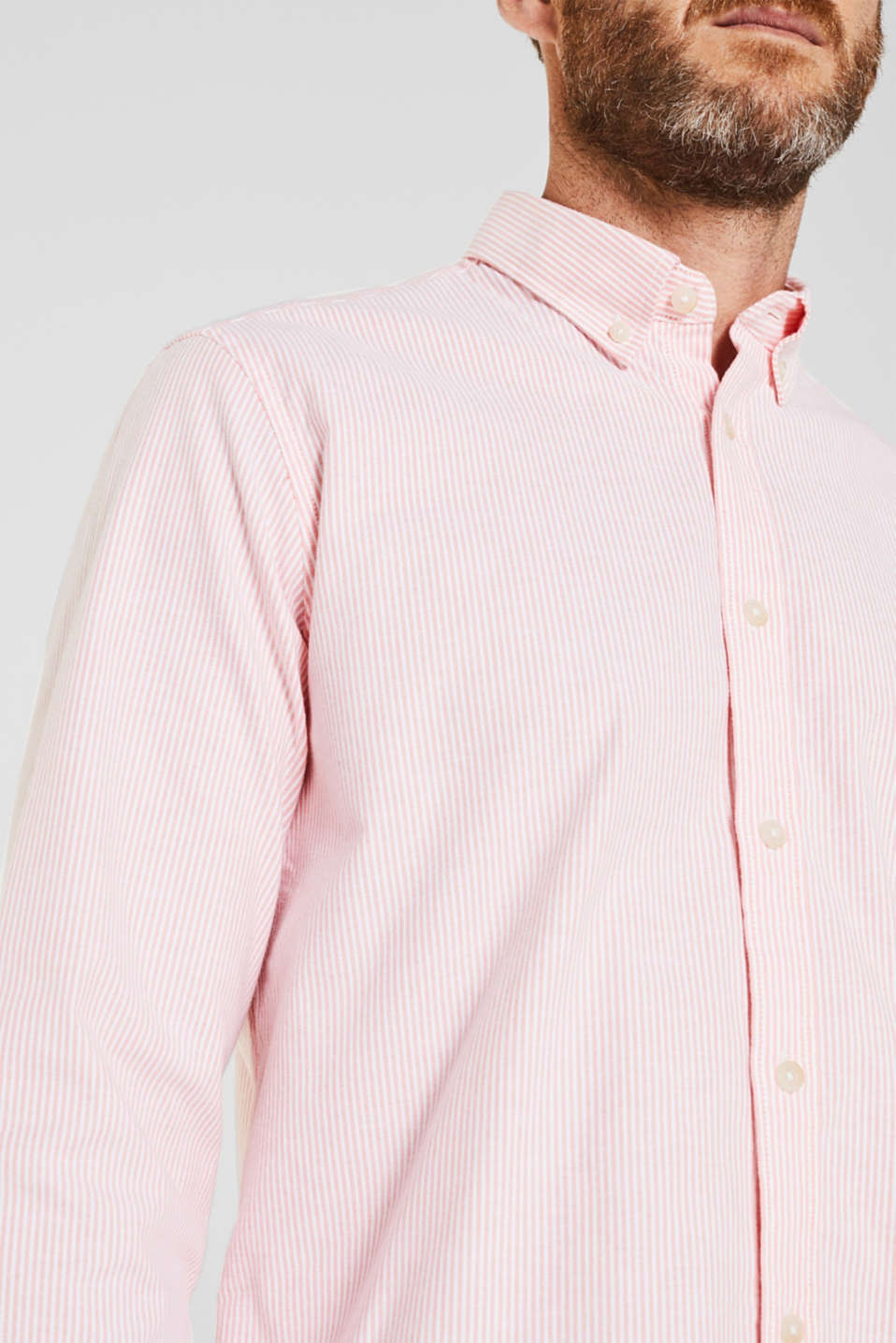 Oxford shirt in stretch cotton, CORAL 3, detail image number 2