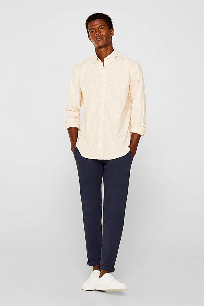 Oxford overhemd van katoen-stretch, HONEY YELLOW, detail image number 0