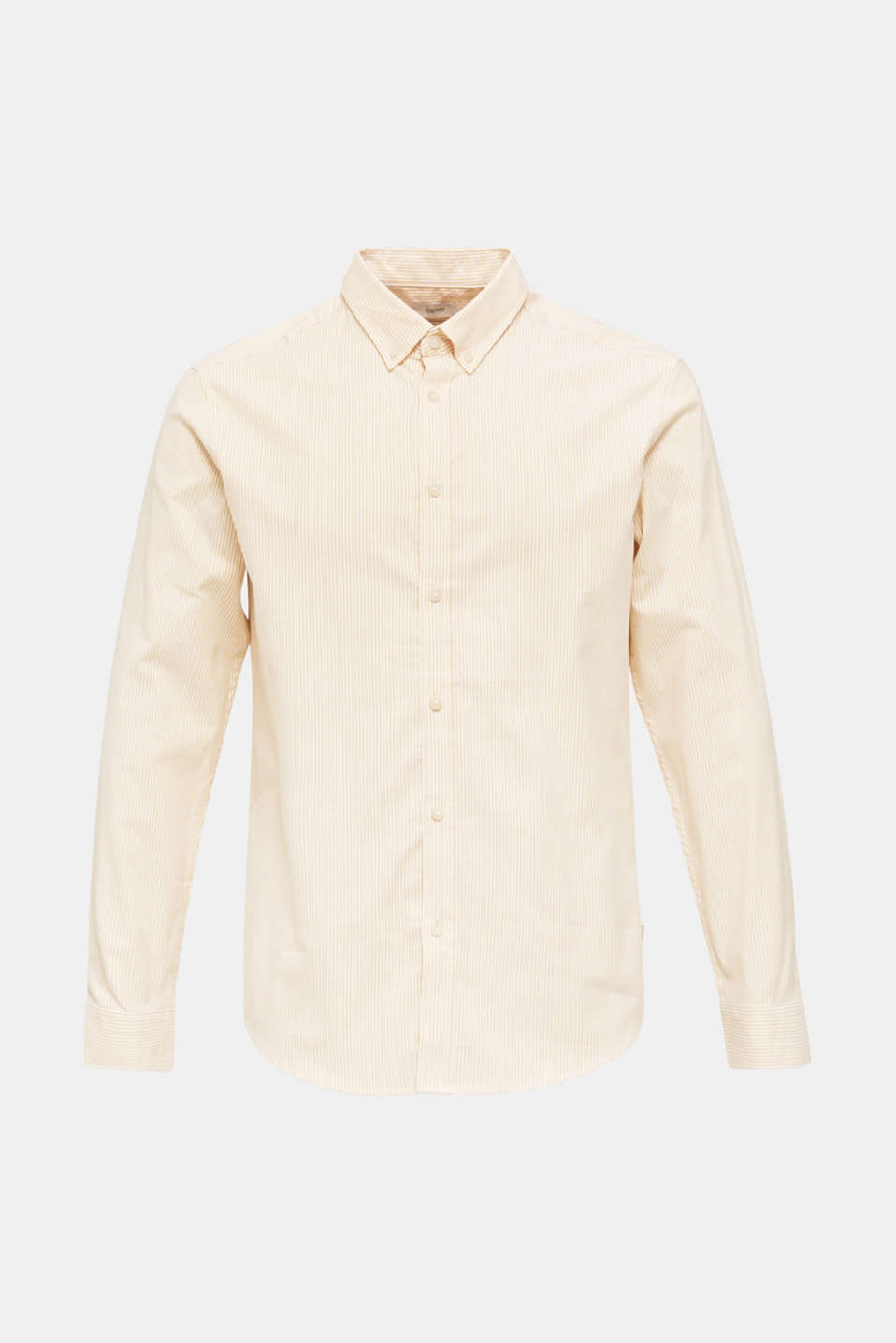 Oxford shirt in stretch cotton, HONEY YELLOW 3, detail image number 6