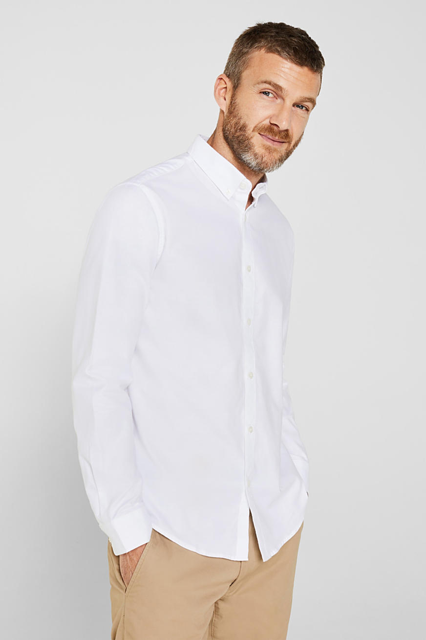 Oxford-Hemd mit Button-Down-Kragen