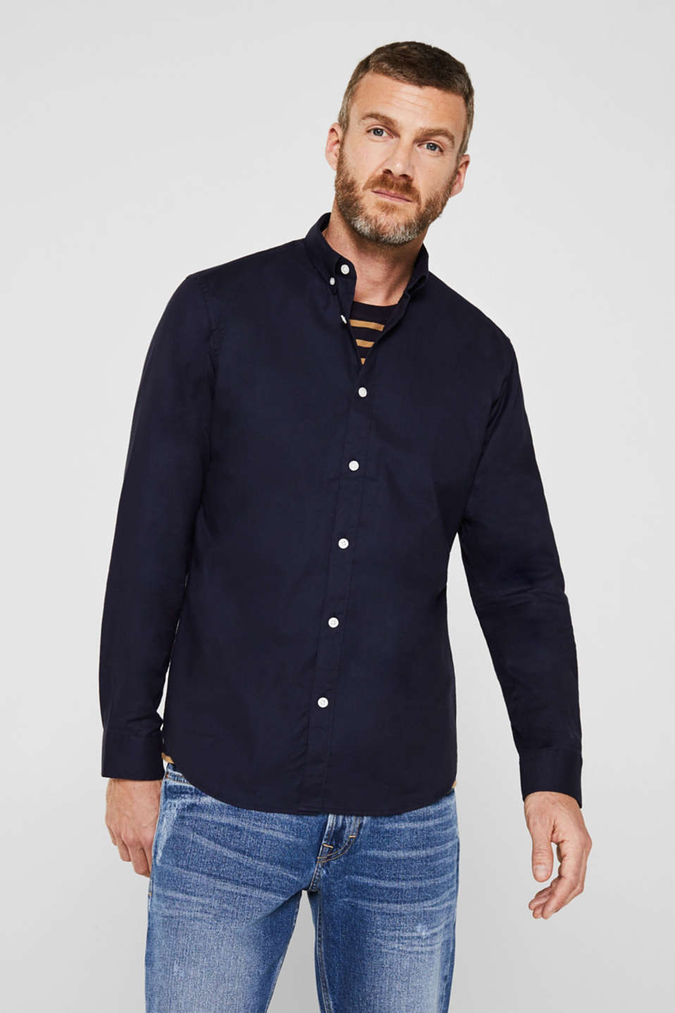 Esprit - Oxford shirt with a button-down collar