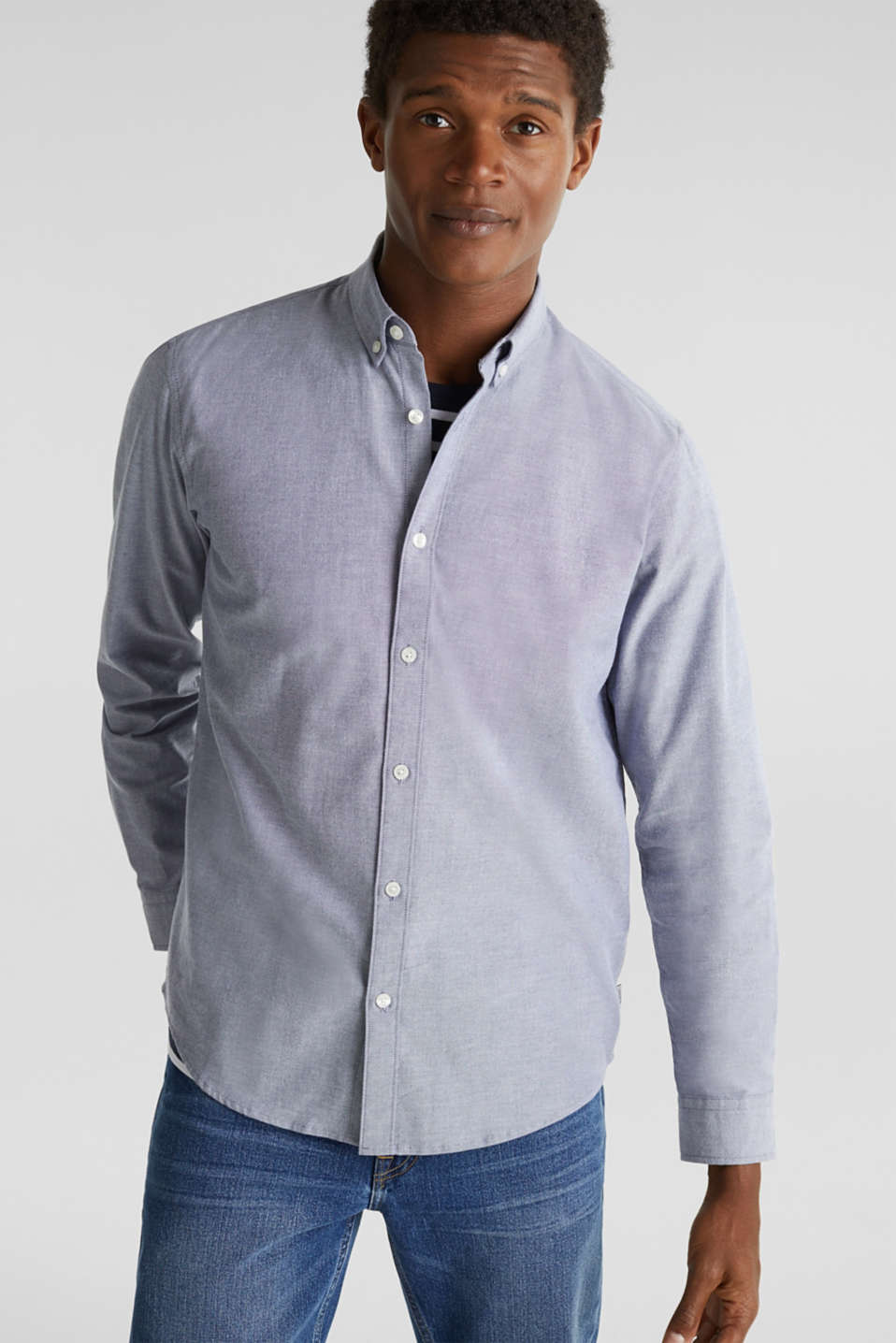Oxford shirt with a button-down collar, DARK BLUE 5, detail image number 0
