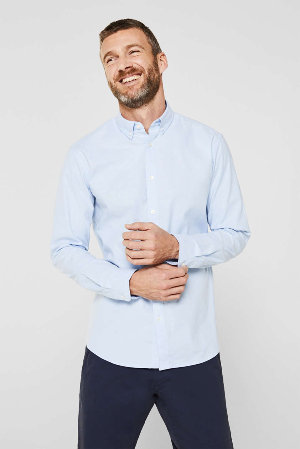 Esprit - Oxford overhemd met buttondownkraag