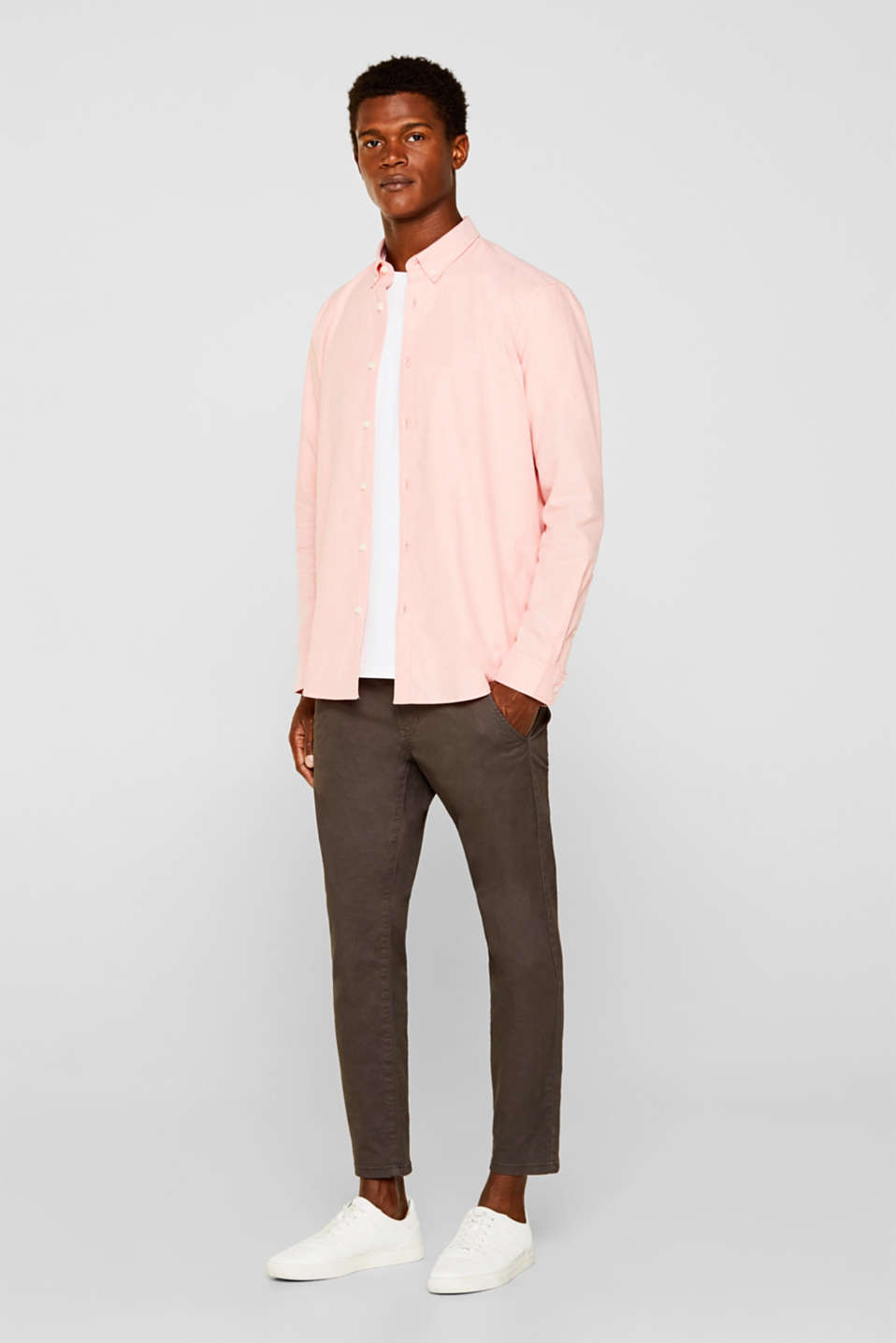 Shirts woven Regular fit, CORAL 5, detail image number 1