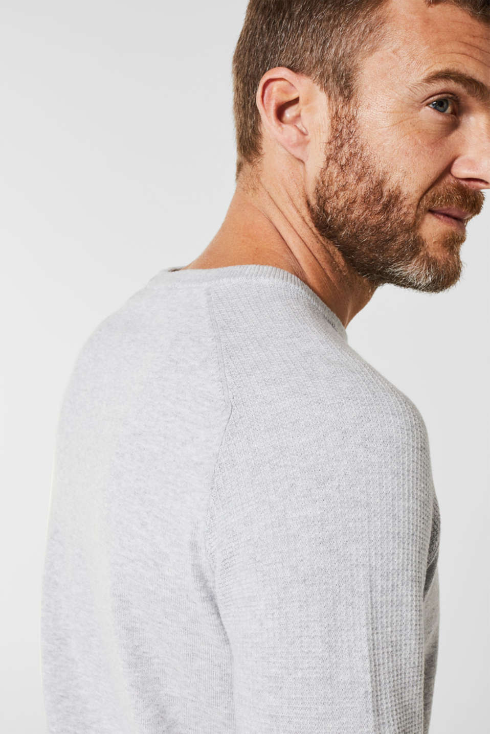 100% cotton jumper, LIGHT GREY 5, detail image number 2